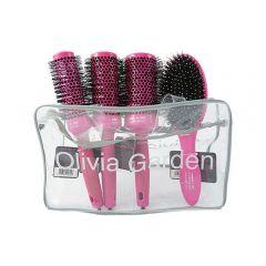 Olivia Garden Ceramic Ion Thermal Brush Rózsaszín és Huzat